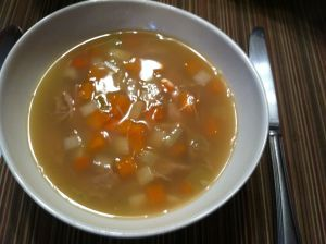 Chicken Soup with Rice & Vegetables